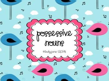 Possessive Nouns Worksheet