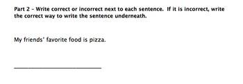 Possessive Nouns Worksheet/Assessment