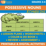Possessive Nouns Worksheets, Activities, and Test L.3.2.D