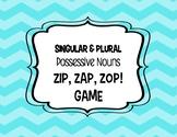 Singular and Plural Possessive Nouns Zip, Zap, Zop! Game
