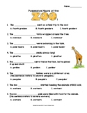 Possessive Nouns: Zoo Worksheet  or Assessment (singular a