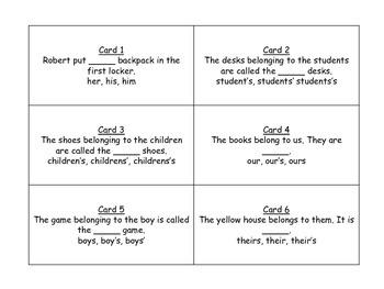 Possessive Nouns and Pronouns for Journeys 3rd Grade