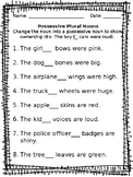 Possessive Plural Nouns Worksheet