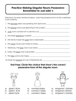 Possessive Princess: Forming and Using Possessive Nouns
