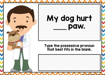 Possessive Pronoun Boom Cards