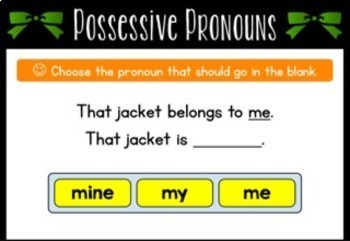 Possessive Pronoun Boom Cards (Digital Task Cards)