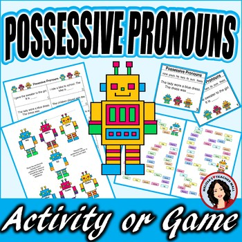 Possessive Pronoun Activity and Bonus Task Cards