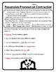 Possessive Pronoun or Contraction Worksheet Possessive Pronouns or Contraction 2