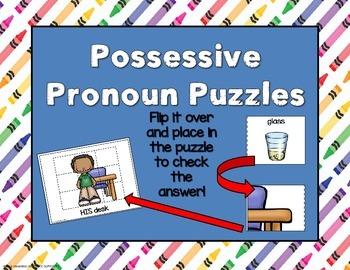Possessive Pronouns Self Correcting Puzzles