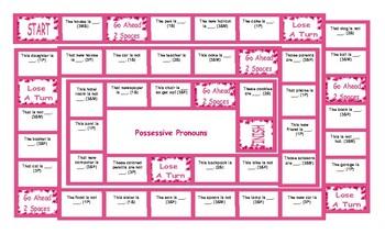 Possessive Pronouns Board Game