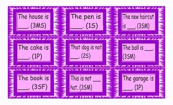 Possessive Pronouns Card Game