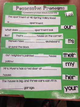 Possessive Pronouns Center