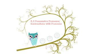 Possessive Pronouns; Contractions with Pronouns Prezi Pres