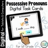 Possessive Pronouns: First Grade Digital Task Cards for Go