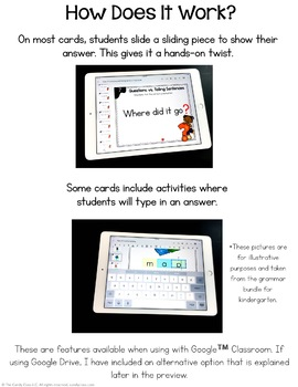 Possessive Pronoun Activities: First Grade Digital Task Cards
