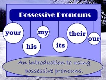 Possessive Pronouns Flipchart Package