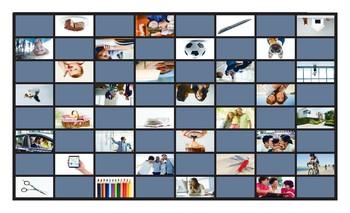 Possessive Pronouns Legal Size Photo Checkers Game