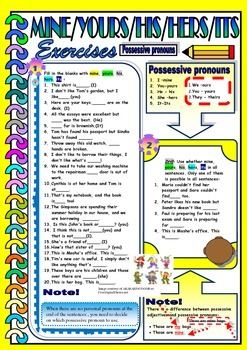 Possessive Pronouns - MINE / YOURS / HIS / HERS / ITS