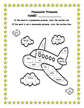 Possessive Pronouns Packet for Second Grade
