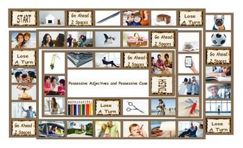 Possessive Pronouns & Possessives Board Game