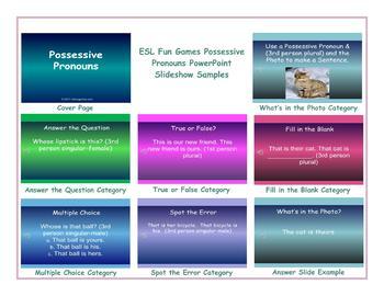 Possessive Pronouns PowerPoint Slideshow