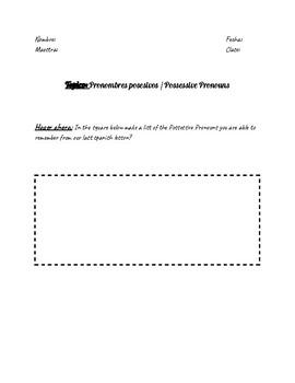 Possessive Pronouns / Pronombres Posesivos