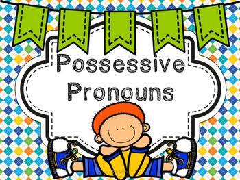Possessive Pronouns-QR Codes, Task Cards, etc.