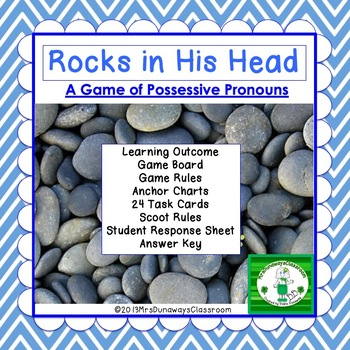 Possessive Pronouns:  ROCKS IN HIS HEAD