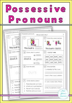 Possessive Pronouns Set