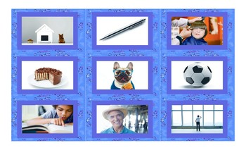 Possessive Pronouns Spanish Legal Size Photo Card Game