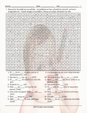Possessive Pronouns Spanish Word Search Worksheet