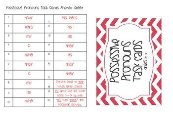 Possessive Pronouns Task Cards (Grades 3 - 5)