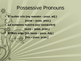 Possessive Pronouns and Possesive Adjectives
