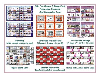 Possessive Pronouns and Possessive Case 6 Board Game Bundle