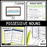Possessive Nouns | Doodle Notes and BINGO Activity