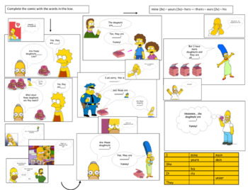 Possessive Pronouns with the Simpsons!