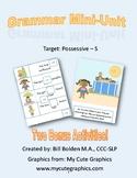 Possessive S Grammar Mini-Lesson - Speech and Language Therapy