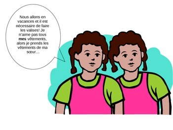 Possessive adjective PACE lesson + accompany worksheet