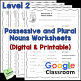 Possessive and Plural Nouns Worksheets - Level 2 - Digital and Printable