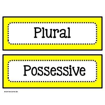 Possessive and Plural Nouns Literacy Center