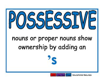 Possessive blue
