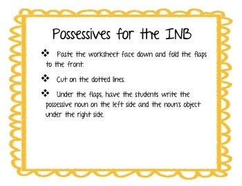 Possessive nouns for Interactive notebooks
