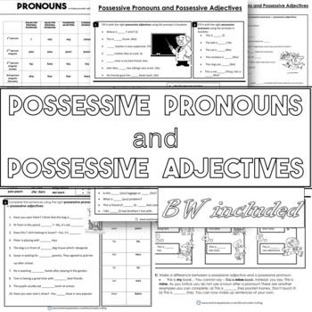 Possessive pronouns and possessive adjectives