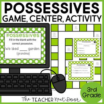 Possessives Game | Possessives Center | Possessives Activities
