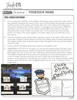 Possessives Lesson Plan