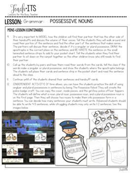 Possessives Lesson Plan