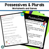 Possessive Nouns Worksheet and Plural Possessives Contraction Center