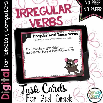 Irregular Verbs Task Cards for Google™ Use