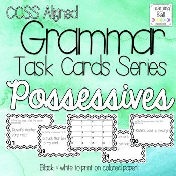 Possessives Task Cards - for Roam the Room or Centers!