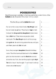 Possessives Worksheet - The Little Mermaid •FREE•